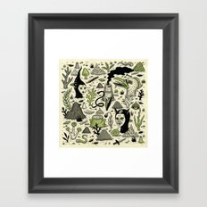 Verdant Graveyard Framed Art Print