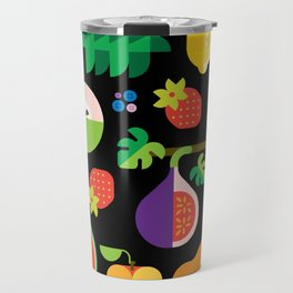 Fruit Medley Black Travel Mug