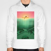 jaws Hoodies featuring JAWS by hyasinths