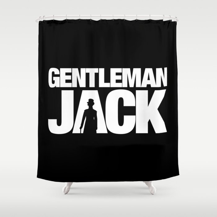 Gentleman Jack Title with Anne Lister Silhouette Shower Curtain