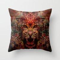 jaguar Throw Pillows featuring Jaguar by Zandonai