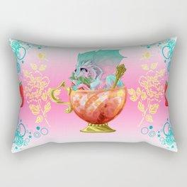 Strawberry Iced Tea Dragon Rectangular Pillow