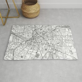 Vintage Map of Rochester NY (1901) BW Rug