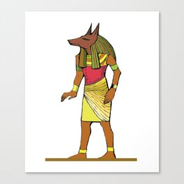 Ancient Egyptian Painting - Anubis, the Wolf God Canvas Print