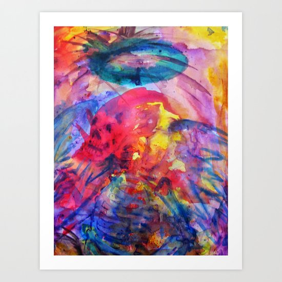 psychedelic angel corpes Art Print