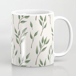 Green leaf sprig pattern Coffee Mug