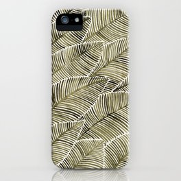 Tropical Leaves – Taupe Palette iPhone Case