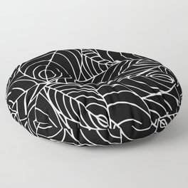 malaysian leaves Floor Pillow