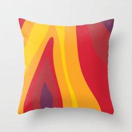 SALAMANDER- FIRE Throw Pillow
