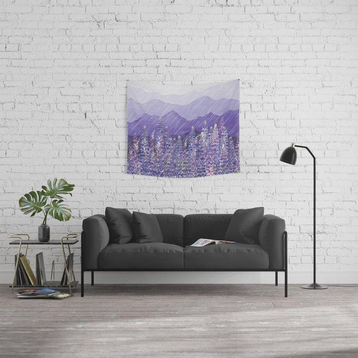 Purple Rain  Wall Tapestry