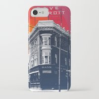 detroit iPhone & iPod Cases featuring Save Detroit by The Mighty Mitten - Great Lakes Art