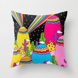 Night Sky Rainbows Throw Pillow