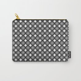 Black And White Geometric Diamond Design Carry-All Pouch
