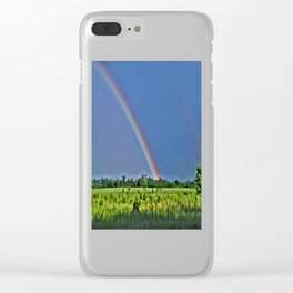 Rainbow Dreams Clear iPhone Case