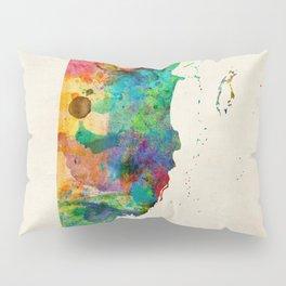 Belize Watercolor Map Pillow Sham