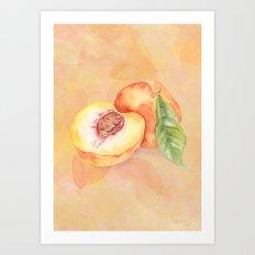 Peach in Watercolor Art Print
