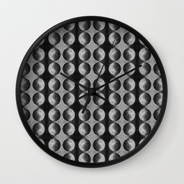 Monochrome Circular Rivet | Repeat Pattern Wall Clock