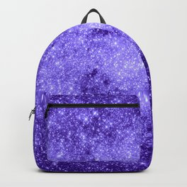 Lavender Galaxy Sparkle Stars Backpack