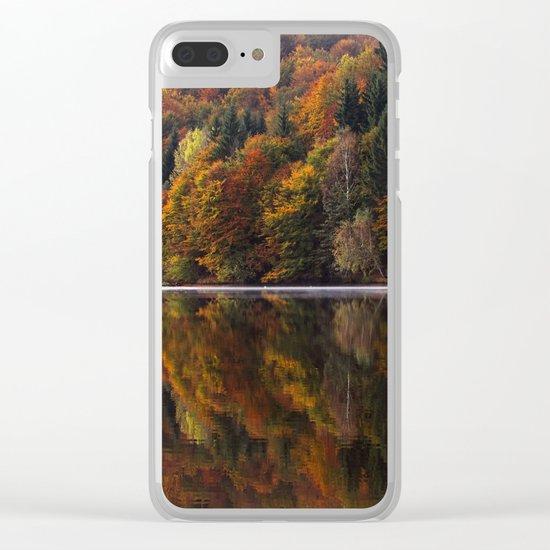 Autumn Lake Clear iPhone Case