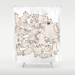 Kitteh (Wonderful Mess Series) Shower Curtain