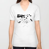 contemporary V-neck T-shirts featuring CONTEMPORARY ART by Josh LaFayette