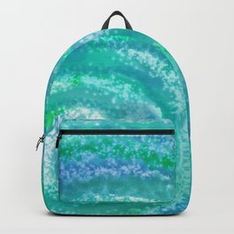 Swirling Blue Ocean Waters - Abstract Backpack