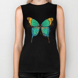Simple Colorful Butterfly Biker Tank