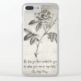 The Little Prince Rose Quote Clear iPhone Case