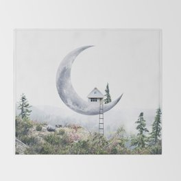 Moon House Throw Blanket