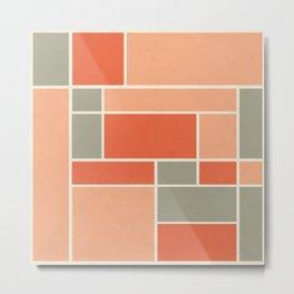 Mondrian inspired Metal Print