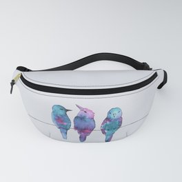 Three birds on a wire Fanny Pack