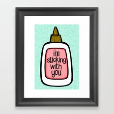 sticking with you ii Framed Art Print