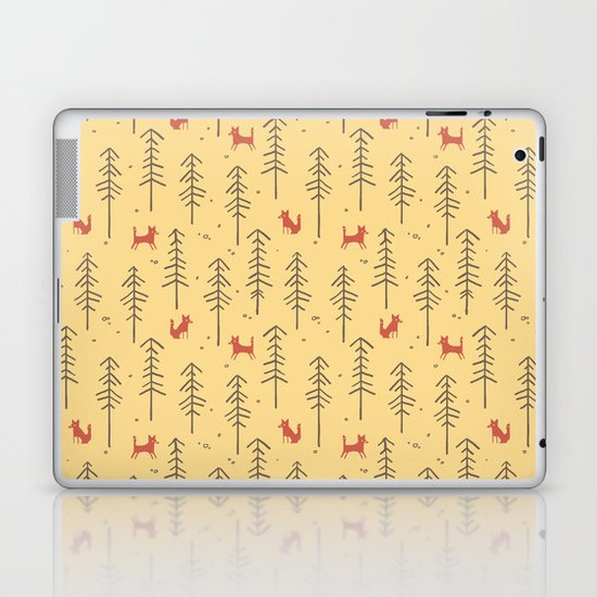 Fox hiding in the forest Laptop & iPad Skin