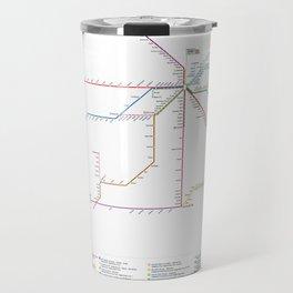 Amtrak Passenger Rail System Map Travel Mug