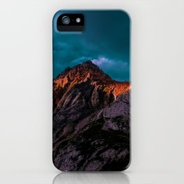 The Volcano Mountain (Color) iPhone Case