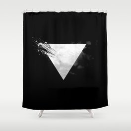 Abstract Triangle bw Shower Curtain
