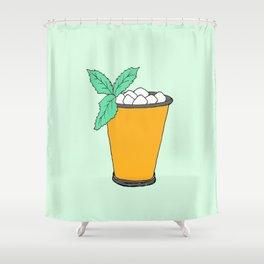 Summer Cocktail - Mint Julep Shower Curtain