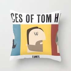 3 Faces of Tom Hardy Throw Pillow