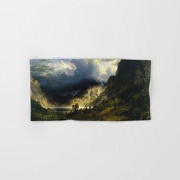 Albert Bierstadt - A Storm in the Rocky Mountains, Mt. Rosalie Hand & Bath Towel