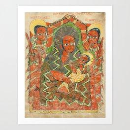 Ethiopian Illuminated Manuscript c. 1505 Art Print
