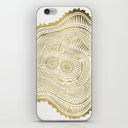 Peachleaf Willow – Gold Tree Rings iPhone Skin