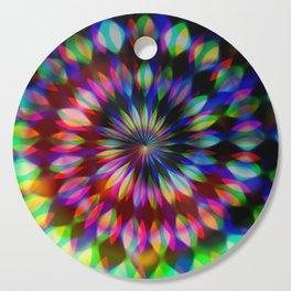 Psychedelic Rainbow Swirl Cutting Board