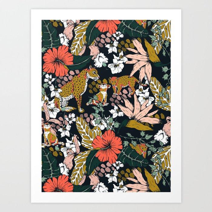 Animal print dark jungle Kunstdrucke