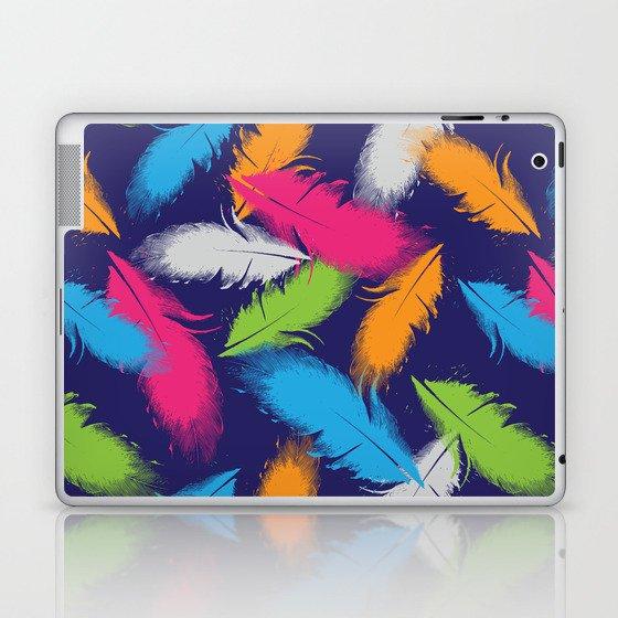 Bright Falling Feathers Laptop & iPad Skin