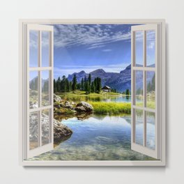 Beautiful Lake | OPEN WINDOW ART Metal Print