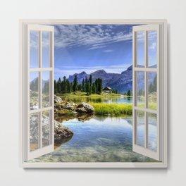 Beautiful Lake | OPEN WINDOW ART Metal Print