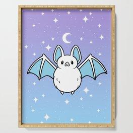 Cute Night Bat Serving Tray