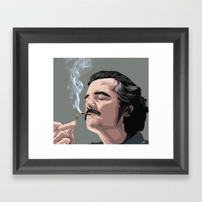 Pablo Escobar Framed Art Print By Mokranehoussam