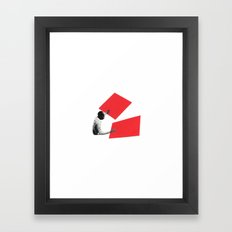 Black and White and Red All Over 2 Framed Art Print