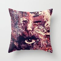faces Throw Pillows featuring Faces by Paige Elizabeth